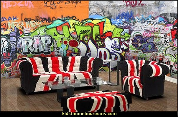 Skater Room Decor Decorating Theme Bedrooms - Maries Manor: Graffiti Wall