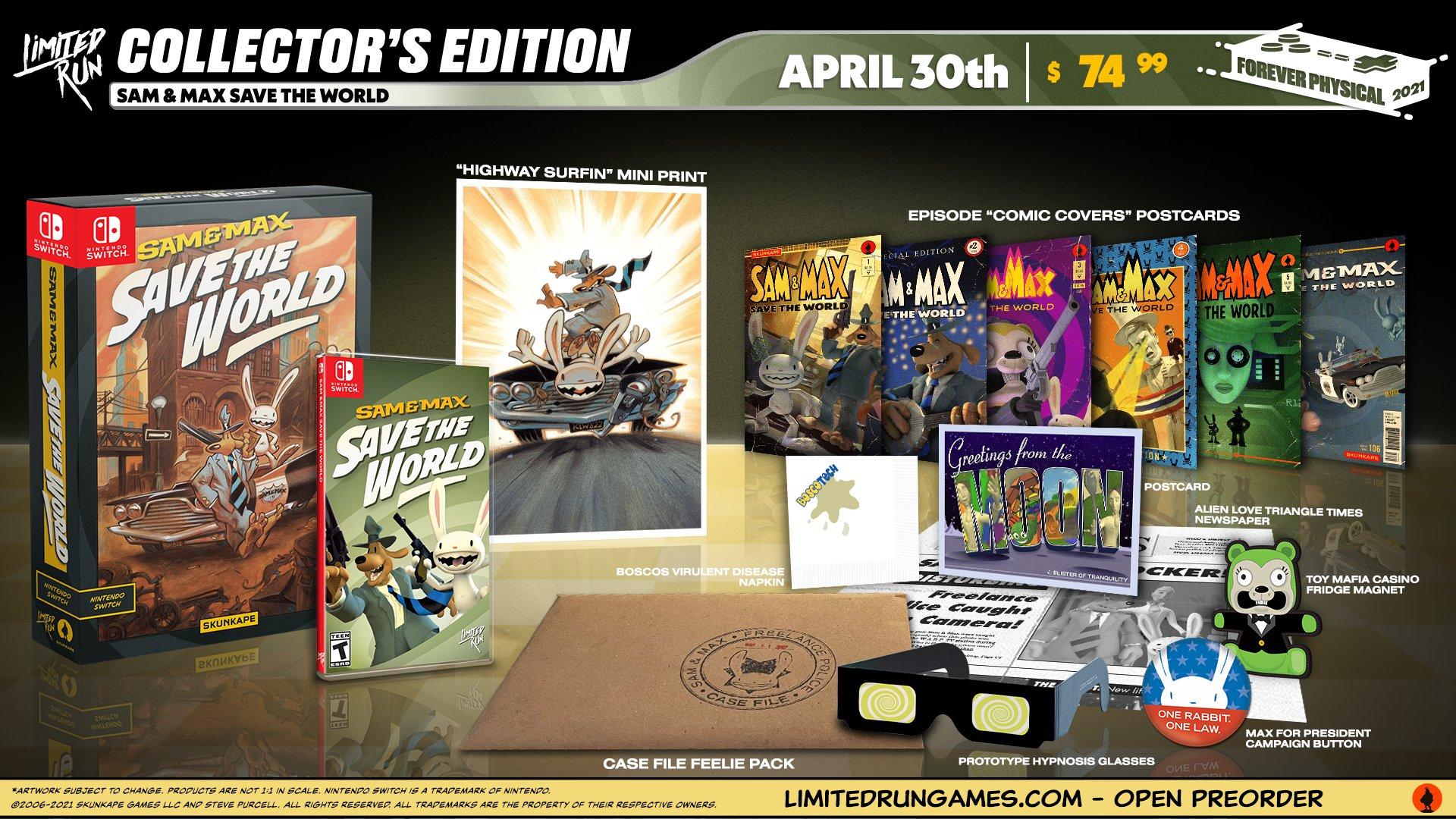 Sam & Max Save the World terá lançamento físico para o Switch e edição de colecionador é anunciada