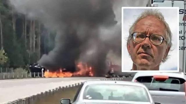 تفحم جثة لارس فيلكس صاحب الرسوم المسيئة للنبي محمد في حادث سير بالسويد