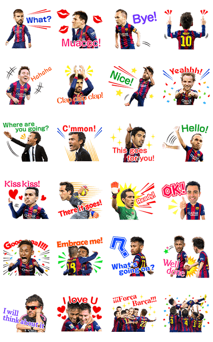 Fc Barcelona Stickers.Line Stickers Fc Barcelona 3d Official Stickers Free Download