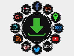 Poker Chip Social Buttons
