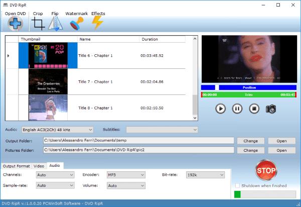 برنامج DVD RipR لتحويل صيغ الصوت والفيديو المختلفه