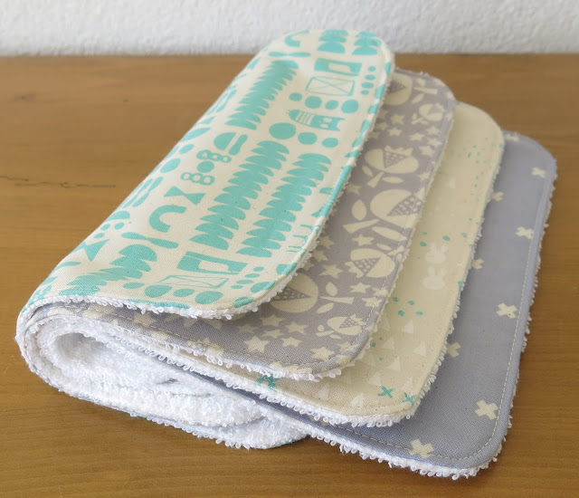 Luna Lovequilts - Washcloth - Cotton and Steel fabrics
