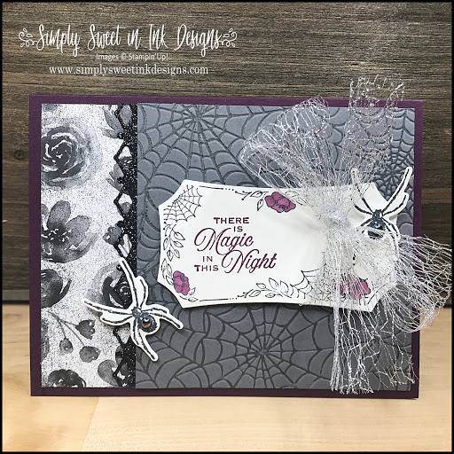 Spooky fun Halloween card using the Magic In This Night suite from Stampin' Up!
