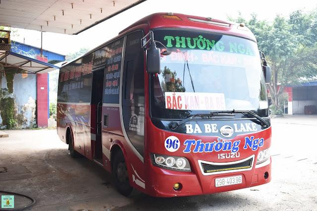 Autobús local al Parque Nacional de Ba Be