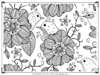 free bird adults coloring pages to print