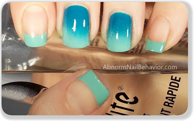 simple ombre nail art sponge gradient