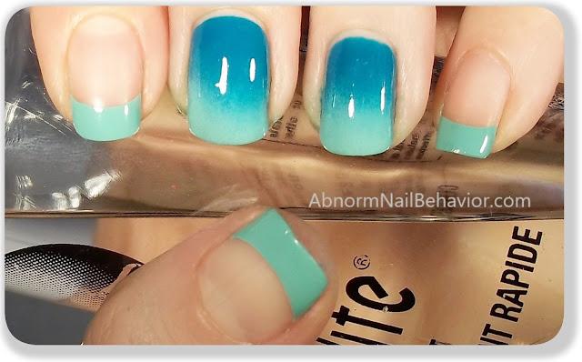 simple ombre nail art sponge gradient