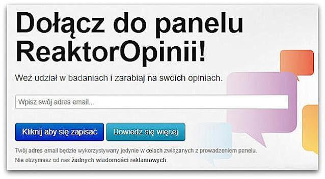 Zarobki w ReaktorOpinii(wypłacalne strony, ankiety).
