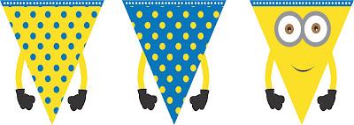 Bandeirinhas Minions rotulos e lembrancinhas minions DIY
