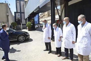 وزير التربية يقوم بزيارة مركز اعلان نتائج البكالوريا دورة 2021
