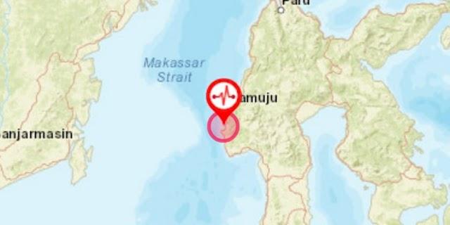 Majene Kembali Diguncang Gempa 5,2 Magnitudo