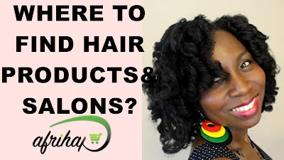 WHERE TO FIND NATURAL HAIR PRODUCTS and SALONS in AFRICA feat. Afrihap