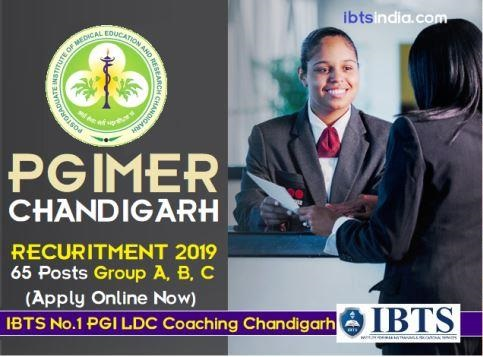 PGI Chandigarh Group A, B, C Recruitment 2019 - Apply Online