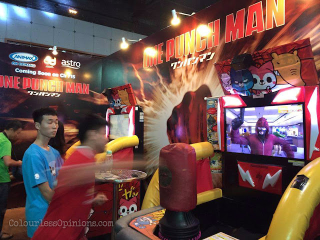 one punch man punching machine animax carnival malaysia 2016