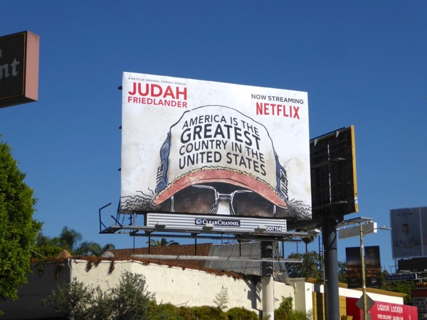 America Greatest Country in United States baseball cap billboard