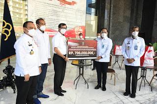 Kumham Peduli, LPKA Maros  Berbagi Bantuan Sembako Kemasyarakat Yang Terdampat Pandemi.