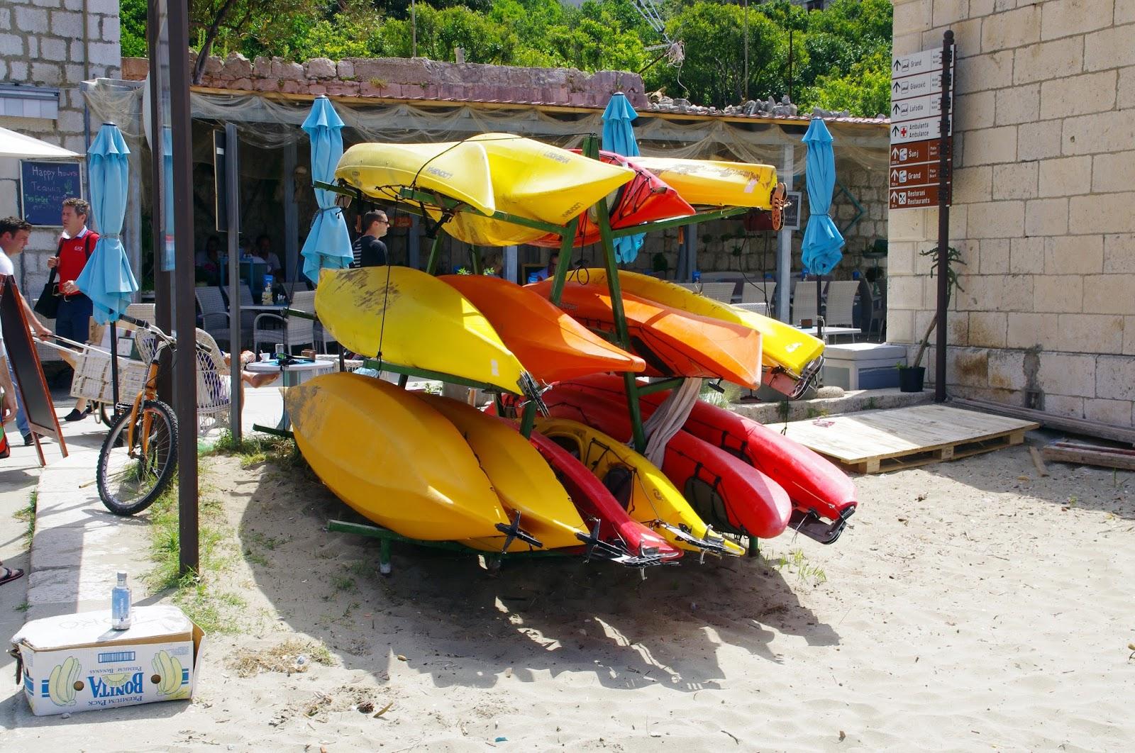 Kayaks on Lopud Island