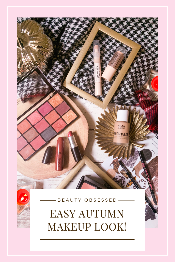 Easy Autumn Makeup Look Pinterest Graphic