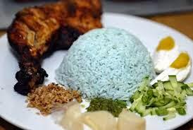 Nasi Kerabu, nasi biru
