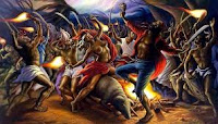 Peinture de la cérémonie du Bois Caïman