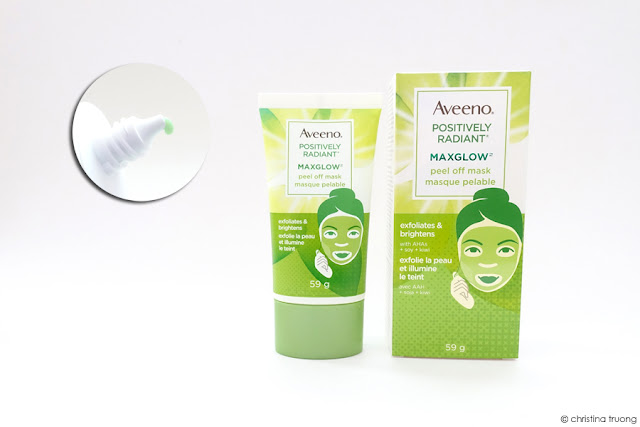 Aveeno Positively Radiant Maxglow Peel Off Mask Skincare Review
