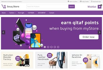 SouQ Store Best Ecommerce Blogger Template