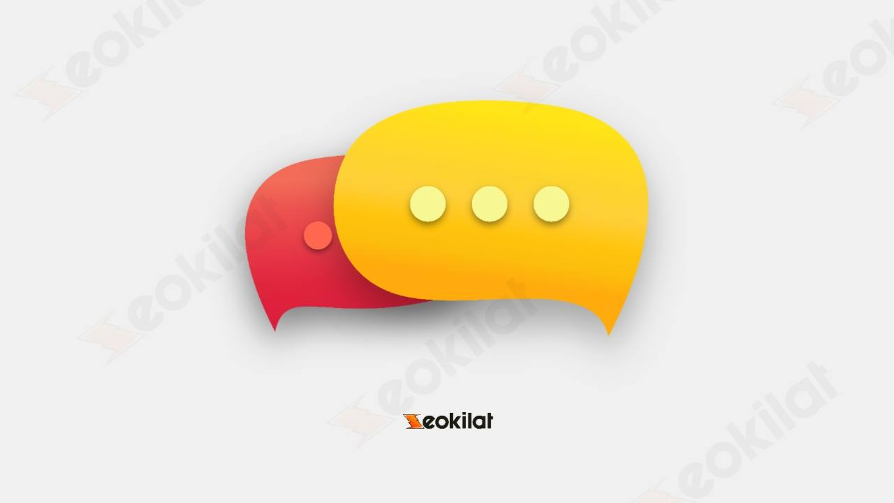 Icon message 3D PNG transparan