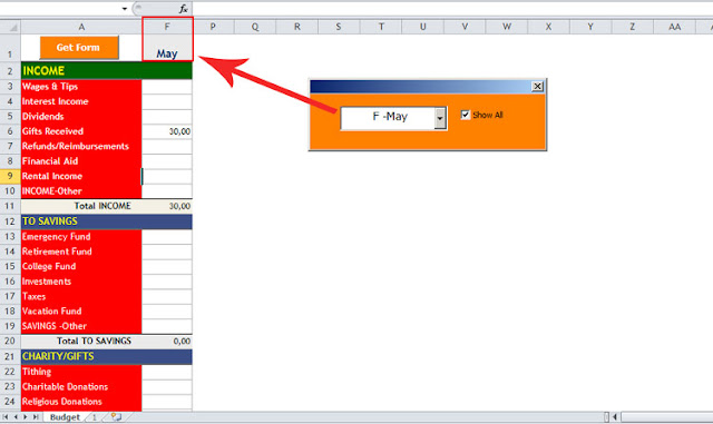 excel hide column