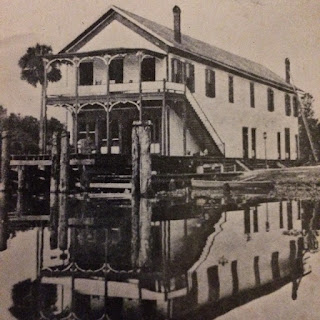 Vintage photo of wooden Astor Hotel in Florida in late 1800s