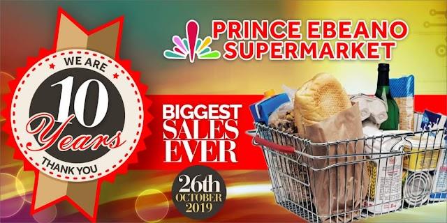 Prince Ebeano Supermarket Marks 10 with Jumbo Sales Promotion