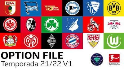 PES 2021 PS5/PS4 Option File Bundesliga Season 2021/2022