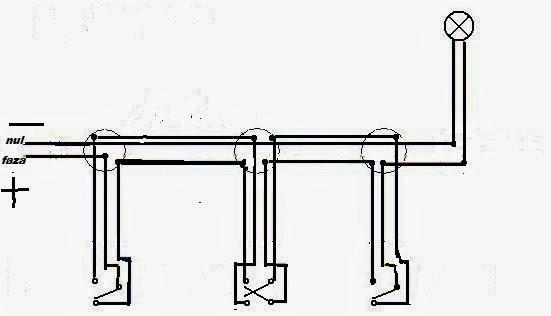 scheme electrice cap scara 3 intrerupatoare
