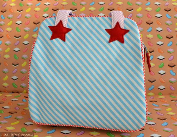 irregular choice disney donald duck bag striped back