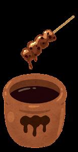 秘伝のタレのイラスト(焼き鳥)