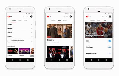 خدمة يوتيوب تي في youtube tv لمشاهدة القنوات التلفزيونية على التلفاز عن طريق الكيبل وامكانية مشاهدة قنوات اليوتيوب على التلفاز