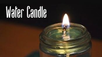 How to Make a Water Candle