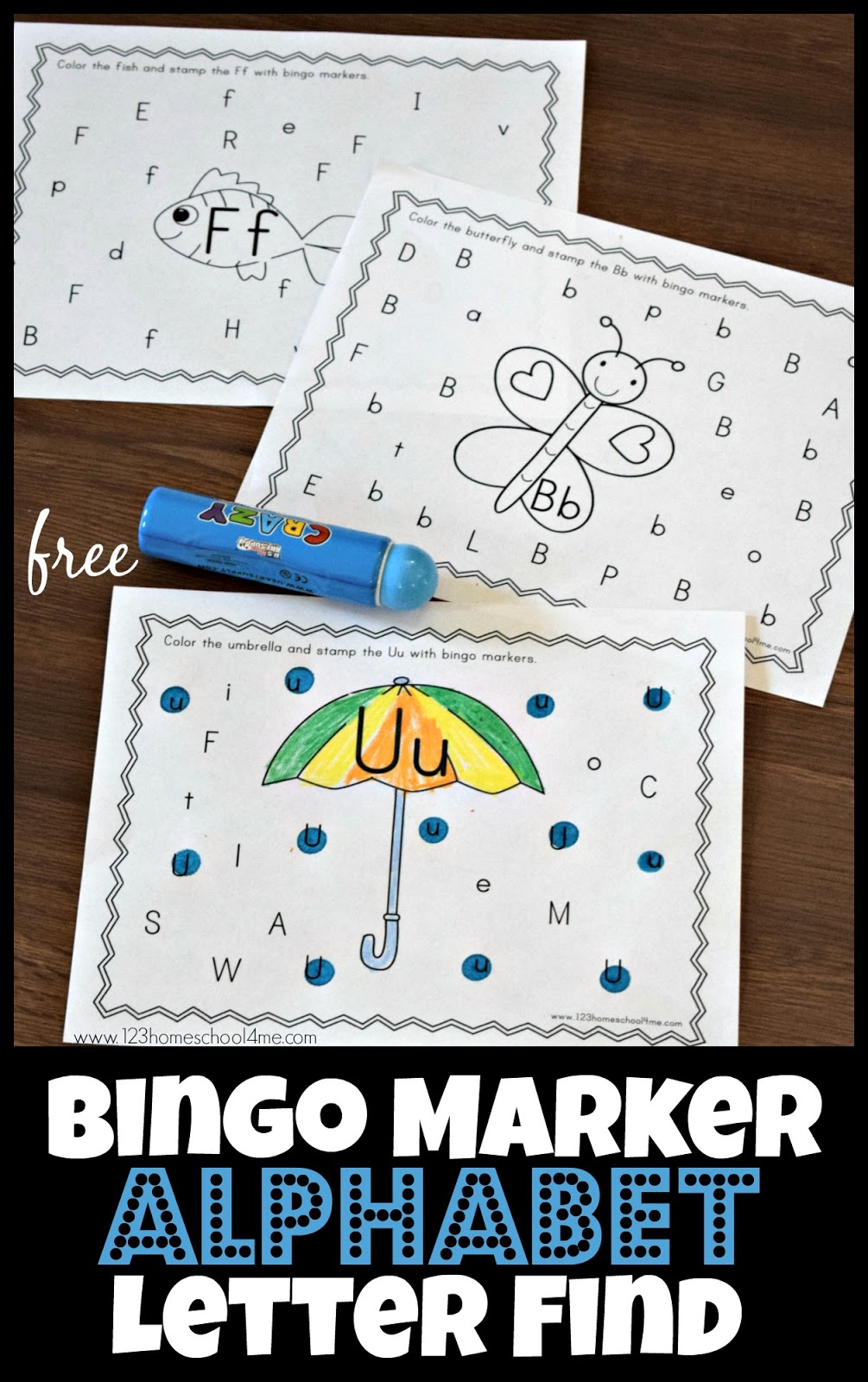 FREE Bingo Marker Alphabet Letter Find