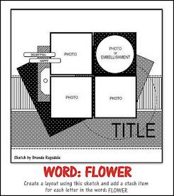 April Sketch Challenge - WORD: FLOWER
