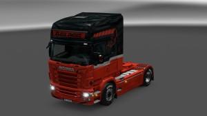 Black Smoke Skin for Scania RJL
