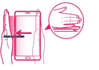 Screenshot Samsung A71 dengan jari