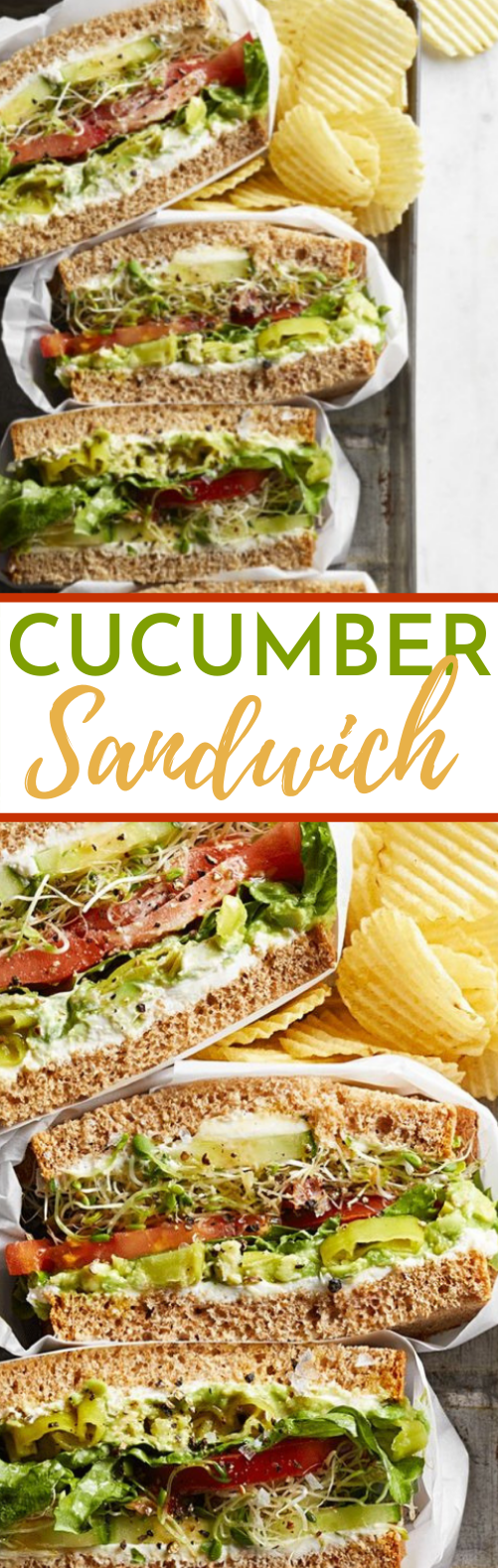 Cucumber Sandwich #vegan #lunch #breakfast #healthy #sandwich