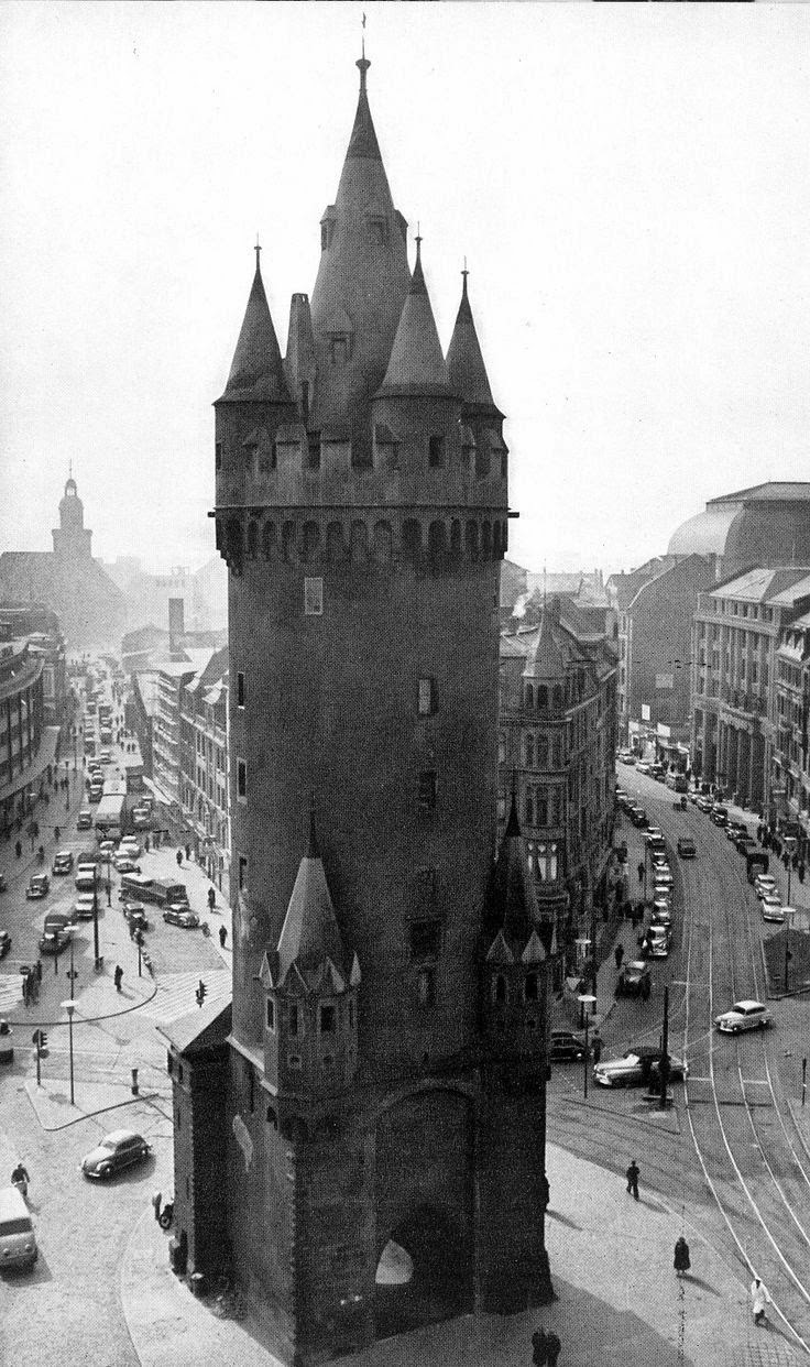 Old View of Eschenheim Tower Germany