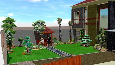 lanskap taman rumah minimalis 2019 - www.jasataman.co.id