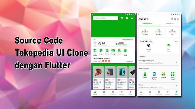 Source Code Tokopedia UI Clone dengan Flutter