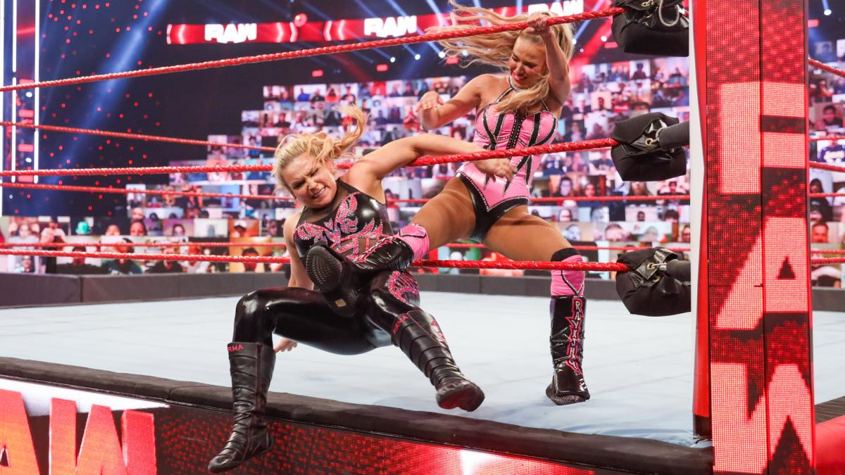 Natalya and Lana on Monday Night RAW