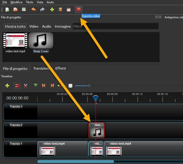 sostituire audio da censurare con bip in openshot