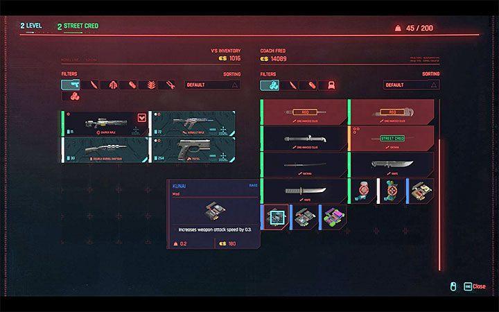 Cyberpunk 2077: Weapon / Armor Mods - How Do I Replace Them? Screenshot 1