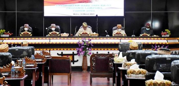 DPRD Kota Metro Gelar Paripurna Peringatan HUT ke-57 Provinsi Lampung