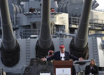 Donald Trump 2015 campaign on USS Iowa Competition of Incompetence and Other stories of Military Intelligence marchmatron.com